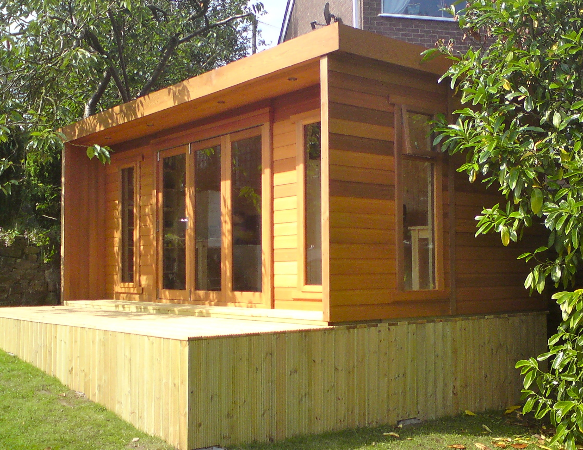 Garden log cabins for sale uk summer log cabins for Contemporary garden office buildings