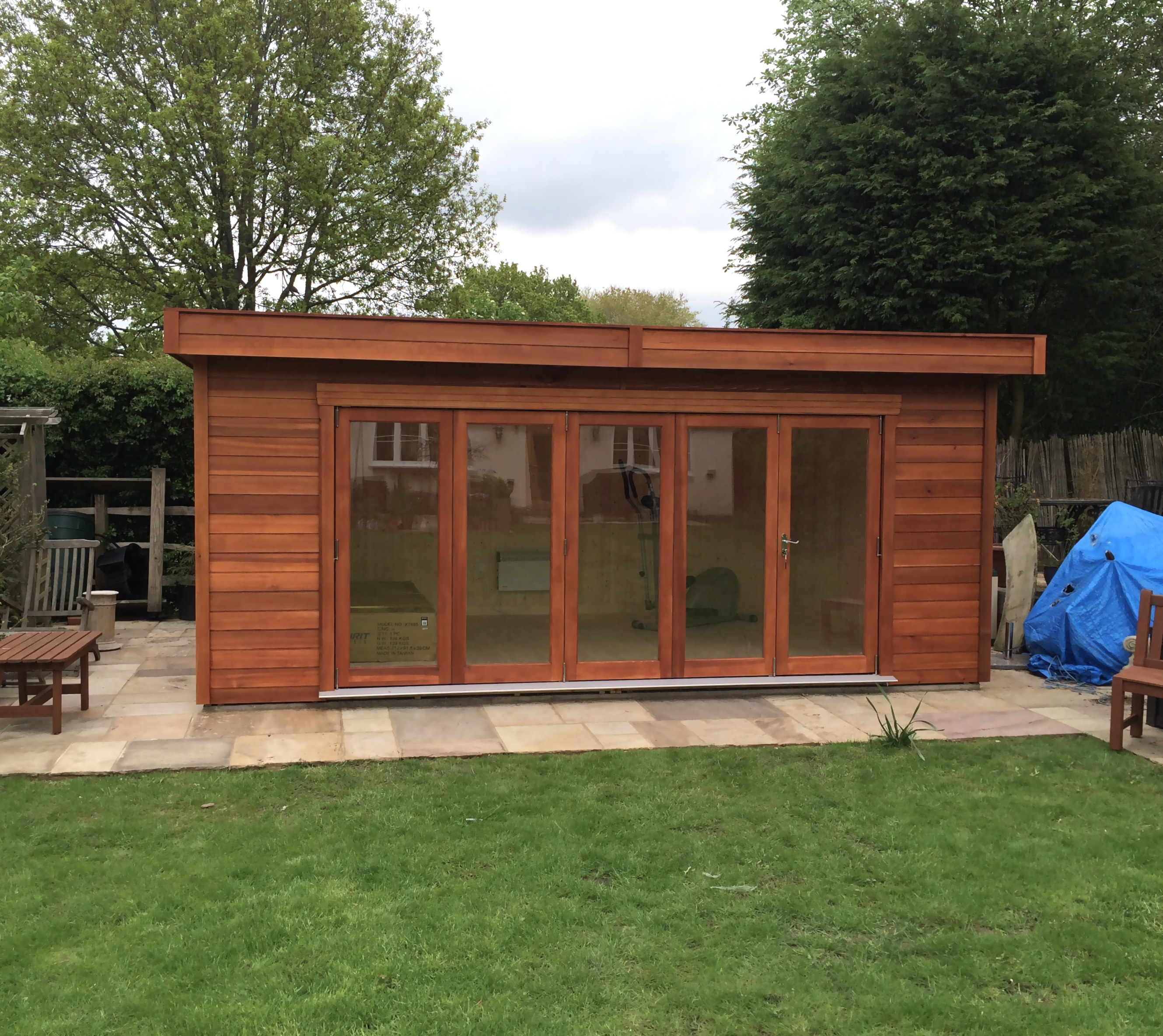 Garden log cabins for sale uk summer log cabins for Log cabin garages for sale