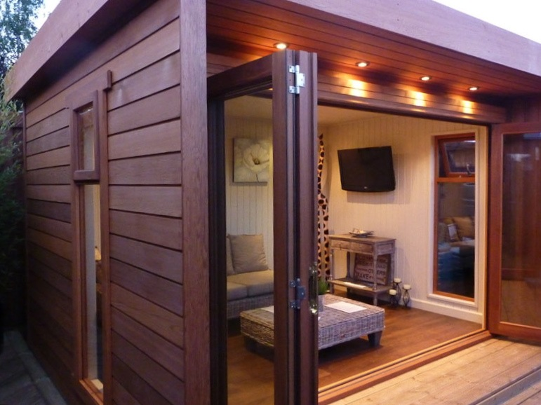 Garden log cabins for sale uk summer log cabins for Garden office buildings