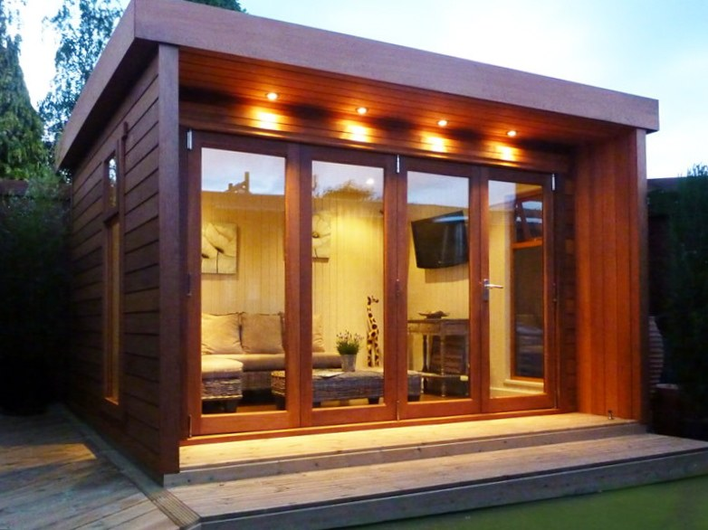 Garden log cabins for sale uk summer log cabins for Outdoor home office buildings