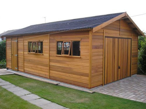 Cedar garage by tunstall garden buildings tunstall for Cedar garden office