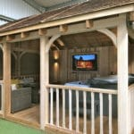 Wooden Gazebo For Hot Tub - Outside View
