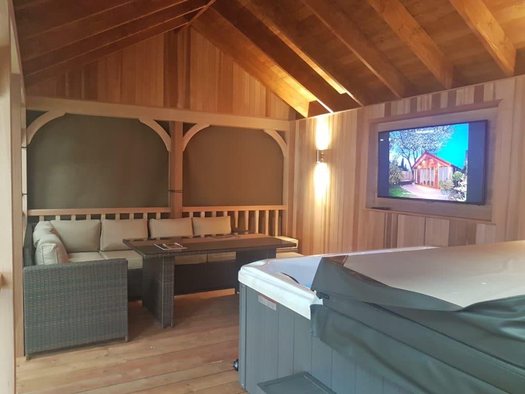 Wooden Gazebo for Hot Tub - Tunstall Garden Buildings