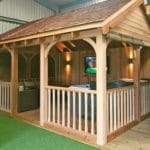 Wooden Gazebo For Hot Tub - Canvas Blinds