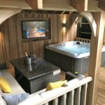 Wooden Gazebo For Hot Tub - Seating & Champagne