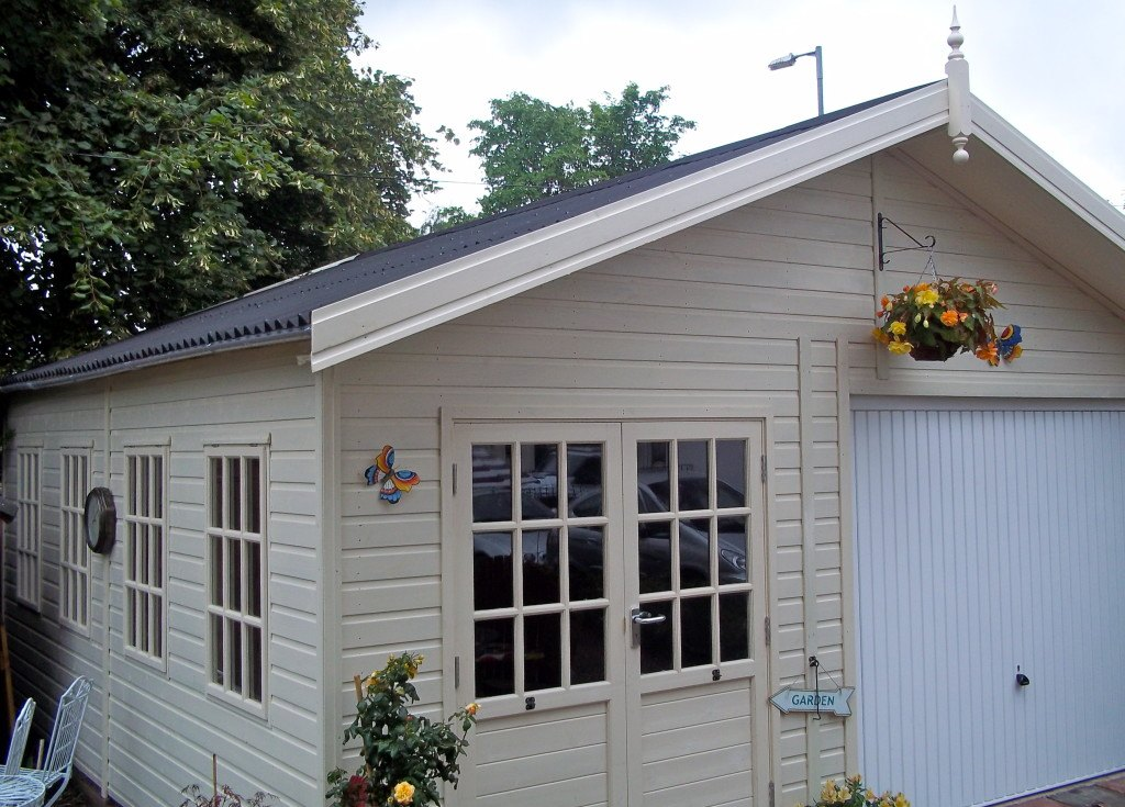 Wooden garages uk timber garages for sale tunstall for Single garages for sale