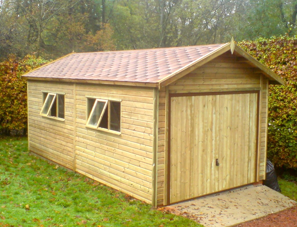 Wooden garages uk timber garages for sale tunstall for Carport ou garage