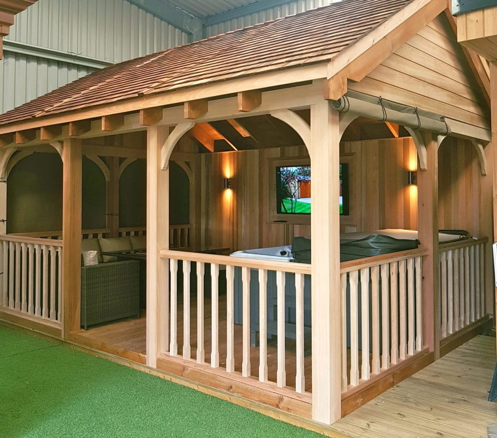 Wooden Gazebo For Hot Tub >> Wooden Gazebo for Hot Tub - Tunstall Garden Buildings